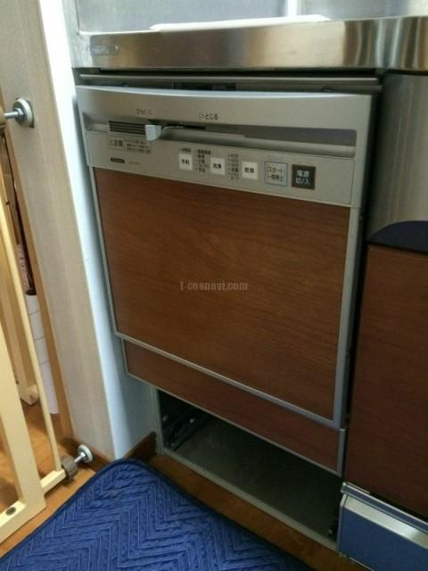 東村山市野口町クリナップビルトインタイプCWPM-45ASからパナソニック食器洗浄器NP-45MC6Tの交換工事