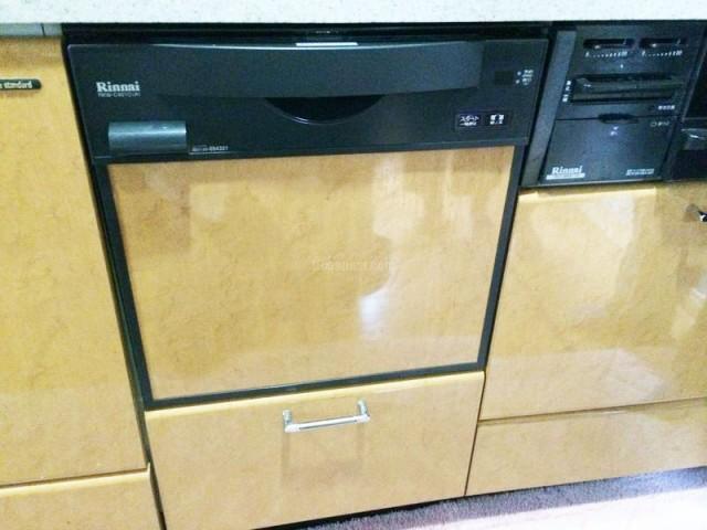 リンナイRKW454AからRKW-C401C(A)への食洗機リフォーム工事