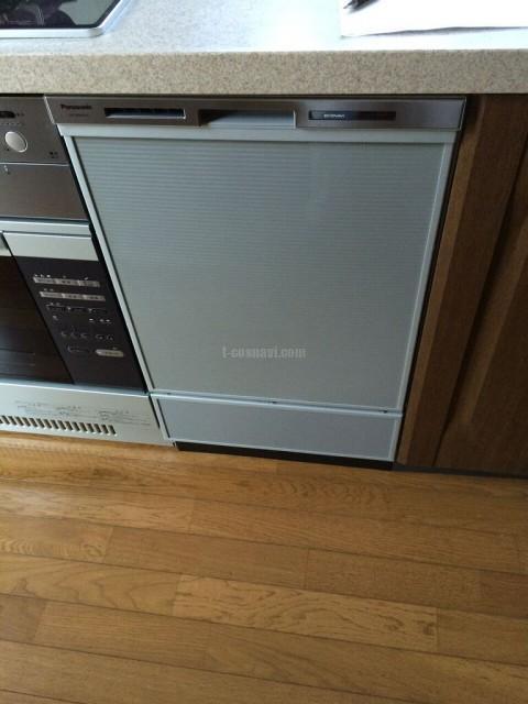 茨城県東海村ビルトイン食器洗い機旧ナショナルNP-45A1P1AAからNP-45MD6Sの交換工事