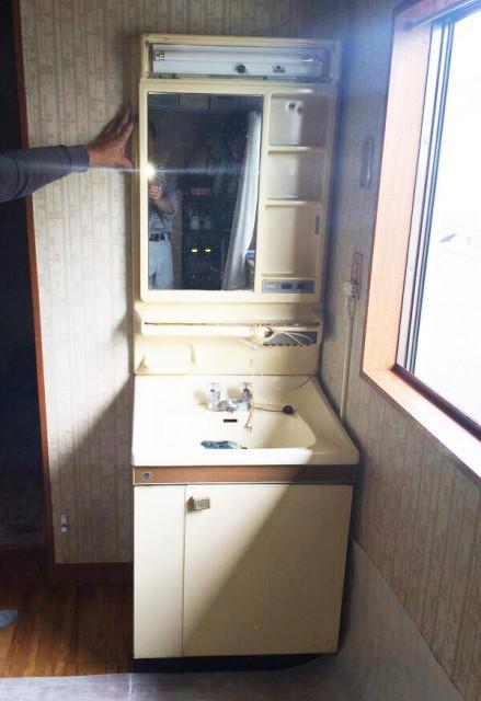 春日部市 マイセット洗面台でリフォーム工事