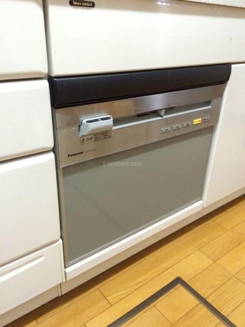 タカラスタンダードビルトイン食洗機TDWF-60からパナソニック食器洗い乾燥機NP-P60V1PSPSへの交換工事