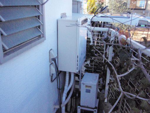 リンナイ 浴室テレビ DS-1200 ガスふろ給湯器 RUF-E2400AWエコジョーズ  の交換工事