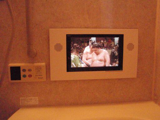 リンナイ  浴室テレビ DS-1200(A) 給湯器リモコン一体型テレビからの交換工事