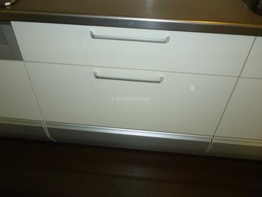 ハーマン 食器洗浄機 FB4504PF キャビネットを分割しての新規取り付け工事