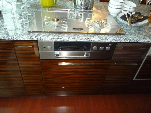 Panasonic 食器洗浄機 NP-45MD5S リンナイ社製食器洗浄機 RKW-458C-SVからの交換工事と リンナイ ビルトインオーブン RBR-S51E-STの新規取り付け工事