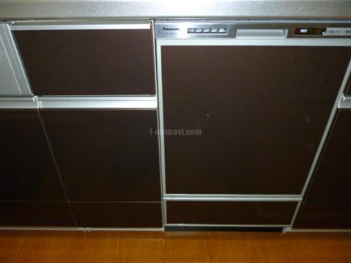 Panasonic 食器洗浄機 NP-45MD5S+ドアパネル キャビネットを分割しての新規取り付け工事