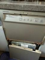 ホシザキ食器洗浄機BJW-12A-Sからリンナイ食器洗乾燥機RKW-402GP-STへの交換工事