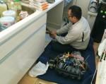 ファーストプラスキャビネットを分割・専用電源・食洗機設置工事 練馬区谷原