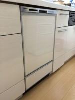 東京都東久留米市 リクシルのサンウェーブ シエラW2250分割+パナソニック食器洗浄器 NP-45MD6S食洗機組み込み工事