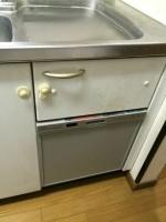 三菱トップオープン食洗機EW-CB50-SWから三菱食器洗乾燥機 EW-45V1Sへのリフォーム工事