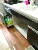 ファーストプラス1050㎜幅キャビネット分割+食洗機取付工事
