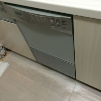 スターコート豊洲 ハーマンビルトイン食洗機FB4511PからNP-45MC6Tへの交換工事