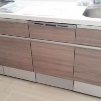 ハウステック食器洗浄機とカップボードの取付工事