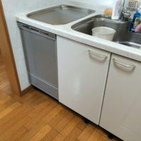 三菱トップオープン食洗機EW-CB55Pからパナソニックディープ型食洗機への交換工事-さいたま市岩槻区岩槻