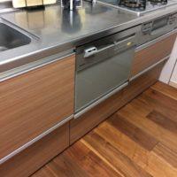 クリナップKTキッチンにPanasonicビルトイン食器洗い乾燥機NP-P60V1PSPSを取り付け-東京都目黒区上目黒<!--161211-->