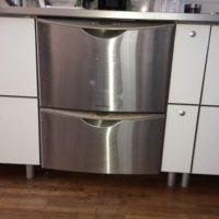 トーヨーキッチンに設置されているfisher & paykel社 2段ビルトイン食洗機からPanasonic ビルトイン食器洗い乾燥機 NP-P60V1WSPSへの交換工事-東京都大田区田園調布<!--80928-->