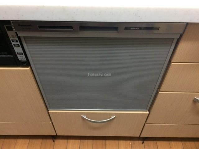 ナショナルビルトイン食洗機 NAIS 15EW1からNP-45MS8Sへの交換工事-神奈川県藤沢市亀井野<!--80926-->