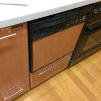 松下電器産業ビルトイン食洗機 E18EW1からNP-45MS8Sへの交換工事-東京都大田区北千束<!--170708-->