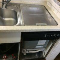 東芝トップオープン食洗機DW-B45CT2からパナソニックディープ型食洗機への交換工事-さいたま市岩槻区岩槻<!--71016-->