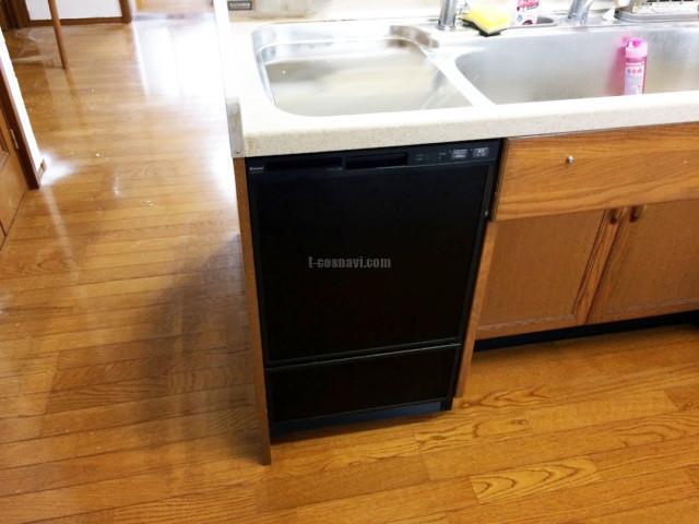 旧サンウェーブトップオープン食洗機MISW-4521からリンナイフロントオープン食洗機への交換工事-埼玉県富士見市東大久保<!--71016-->
