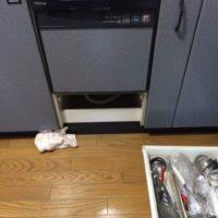 ナショナルビルトイン食洗機 NP-P45X1P1AAからNP-45MS8Sへの交換工事-埼玉県鴻巣市吹上富士見<!--71222-->
