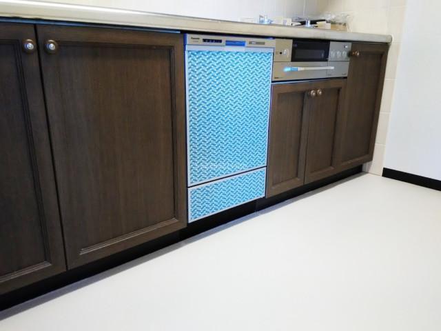 パナソニックビルトイン食洗機NP-45MD8Wの新規取り付け-グランドヒルズつくば2番館<!--80629-->