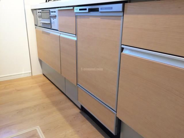 千葉県市川市市川 一戸建てのお宅のLIXIL ASシリーズ75㎝引出し部分にビルトイン食洗機を取り付けました。