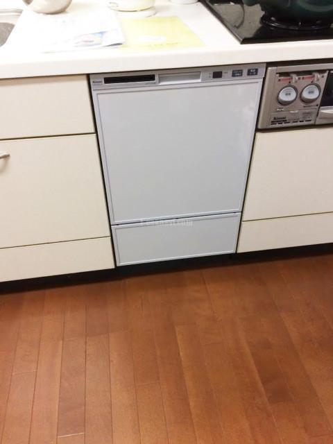 リンナイビルトイン食洗機NP-P45D1P1AAからリンナイRSW-F402C-SVへの交換工事-神奈川県大和市つきみ野
