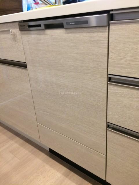 パナソニックビルトイン食洗機NP-45MD8Wの新規取り付け-千葉県流山市パークホームズ流山セントラルパーク<!--81014-->