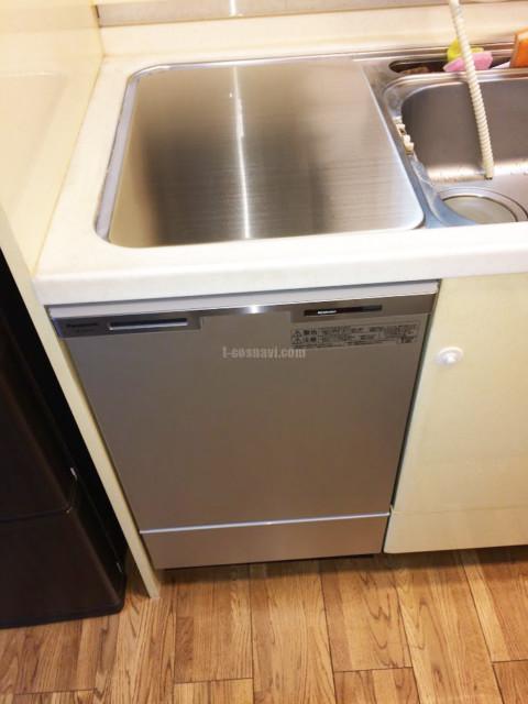 旧サンウェーブトップオープン食洗機MISW-4521からリンナイフロントオープン食洗機への交換工事-神奈川県横浜市鶴見区上の宮<!--81103-->