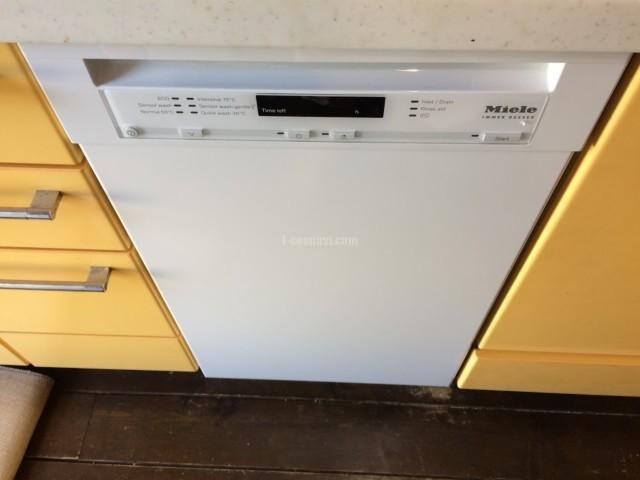 ホシザキのビルトイン食洗機を取り外してMiele ビルトイン食洗機 G4700SCuの取り付け-東京都狛江市猪方