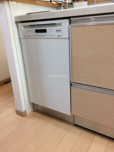 ナショナル食洗機 NP-P45V2PSを取り外してMiele ビルトイン食洗機G4700SCuを取り付ける工事-東京都杉並区阿佐谷北