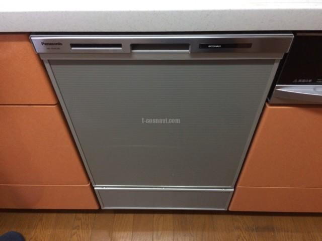 日立ビルトイン食洗機 KF-P45T1SK2からパナソニック食器洗い乾燥機NP-45MD8Sへの交換工事-茨城県ひたちなか市大成町
