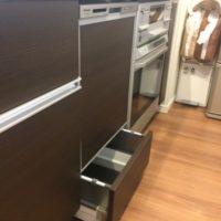 ディープタイプ食洗機NP-45MD8Sと下部収納を設置する工事-ヴィラーヌ高崎ステーシア