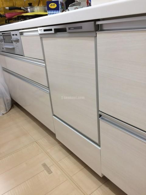 ファーストプラスキッチン45㎝キャビネットへディープタイプ食洗機と下部収納を設置する工事-埼玉県春日部市緑町