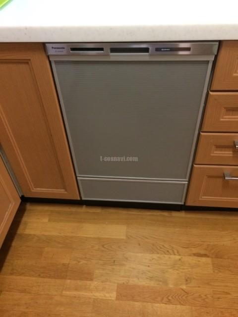 松下電器産業ビルトイン食洗機 E18EW1からパナソニック食器洗浄器 NP-45MD8S・水栓の交換工事-千葉県柏市松ケ崎