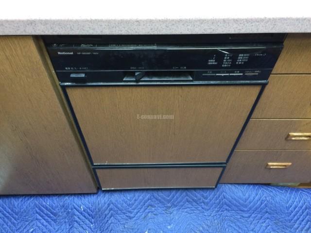 Panasonic 食器洗浄機 NP-45MD8S National 食器洗浄機 NP-5800BPからの交換工事-代々木パールハイツ