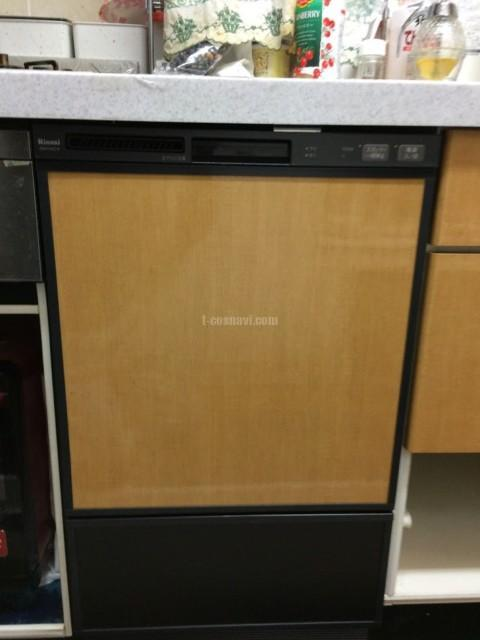 東芝食器洗浄機TS-D454からリンナイ食洗機RSW-F402C-Bへの交換工事