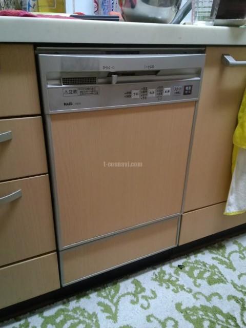 松下電器産業ビルトイン食洗機 QGS17EW1からパナソニック食器洗浄器 NP-45MD8Sへの交換工事-群馬県みどり市笠懸町