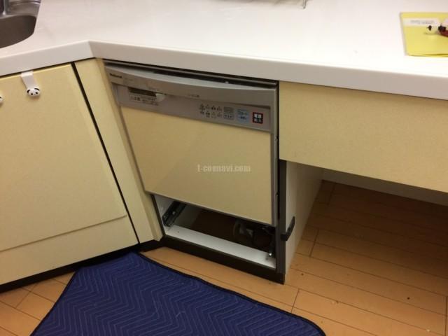 ナショナルビルトイン食洗機NP-P45X1S1からリンナイRSW-F402C-SVへの交換工事-プロムナード仲町台