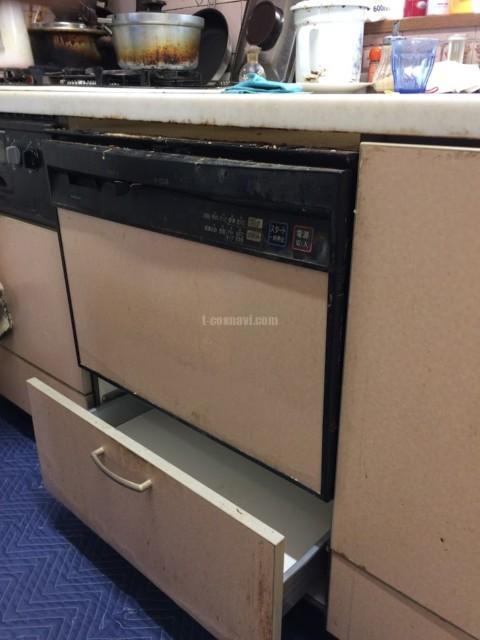 ナショナルビルトイン食洗機NP-P60X1P1AAからパナソニック食器洗い乾燥機NP-P60V1PSPSへの交換工事-東京都東村山市多摩湖町