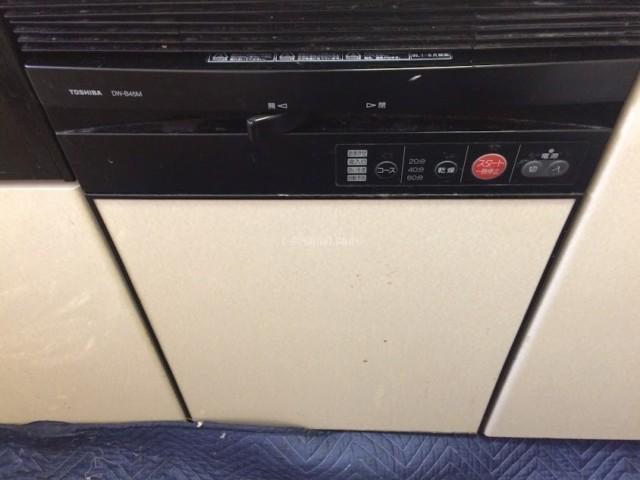 TOSHIBAビルトイン食洗機DW-B45Mからリンナイ食器洗浄器 RSW-F402C-SVへの交換工事-埼玉県さいたま市南区太田窪