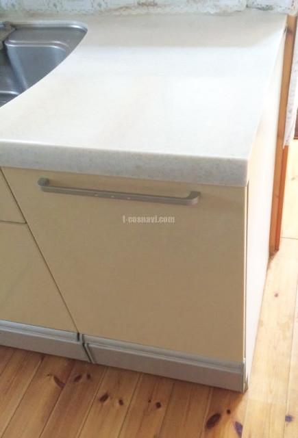 キッチン端部にビルトイン食洗機を新規設置-千葉市中央区赤井町