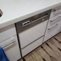 ナショナルビルトイン食洗機 NP-P45V1PSAAからNP-45MS8Sへの交換工事-千葉県袖ケ浦市