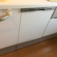 トクラスシステムキッチンの面材を入手してパナソニックNP-45MD8Wを設置する工事-サンクタス亀戸ウエストステージ