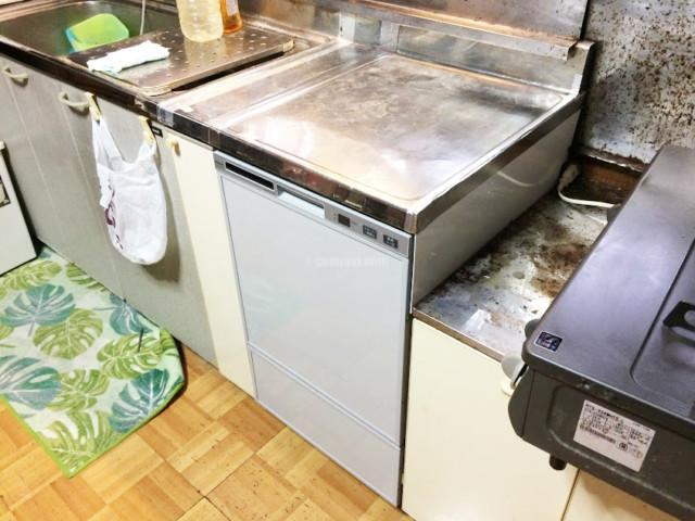 ナショナルビルトイン食洗機NP-5600Sからリンナイ食器洗浄器 RSW-F402C-SVへの交換工事-千葉県松戸市松戸