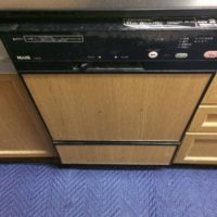 旧ナショナルビルトイン食洗機 NAIS 24EW2からリンナイビルトイン食洗機 フロントオープンタイプRSW-F402C-Bへの交換工事-茨城県つくば市